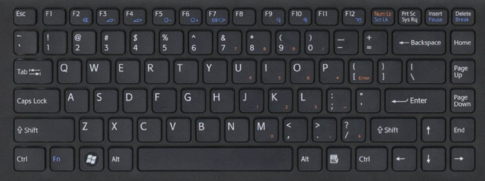 Sony VPCEA laptop keyboard keys