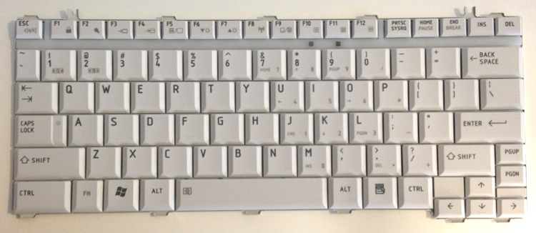 Dell xps 17 laptop keyboard key